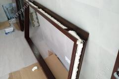 Установка коробки металлической двери